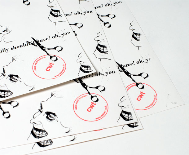 sheets of wrapping paper with stamp detail