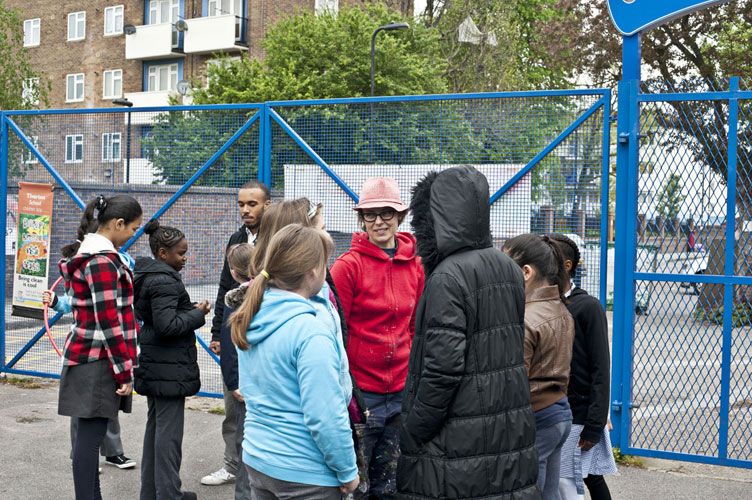 children at Tiverton Primary School Haringey